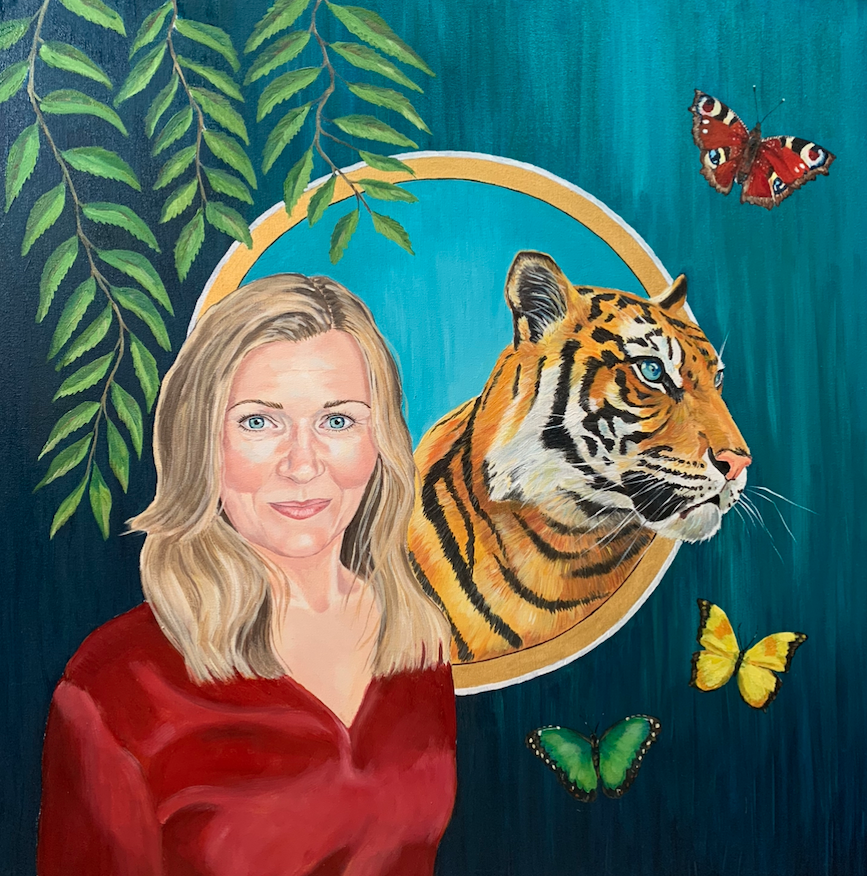 """A friend with her Tiger"""